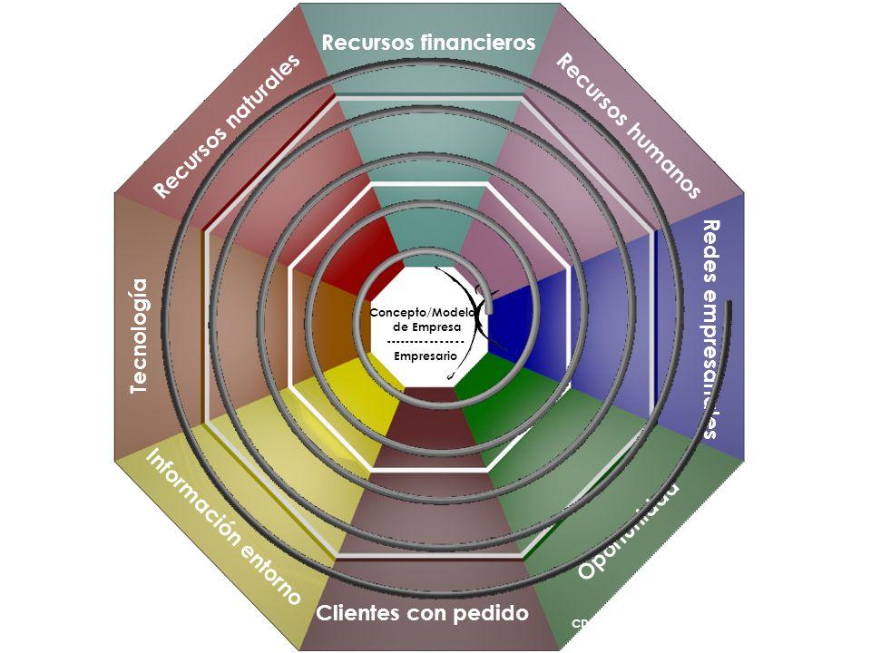 Clientes con pedido Información entorno Tecnología Recursos naturales Recursos financieros Recursos humanos Redes empresariales Oportunidad Concepto/M