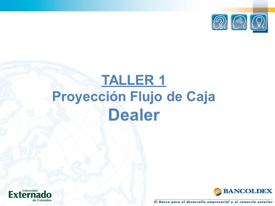 TALLER 1 Proyección Flujo de Caja Dealer