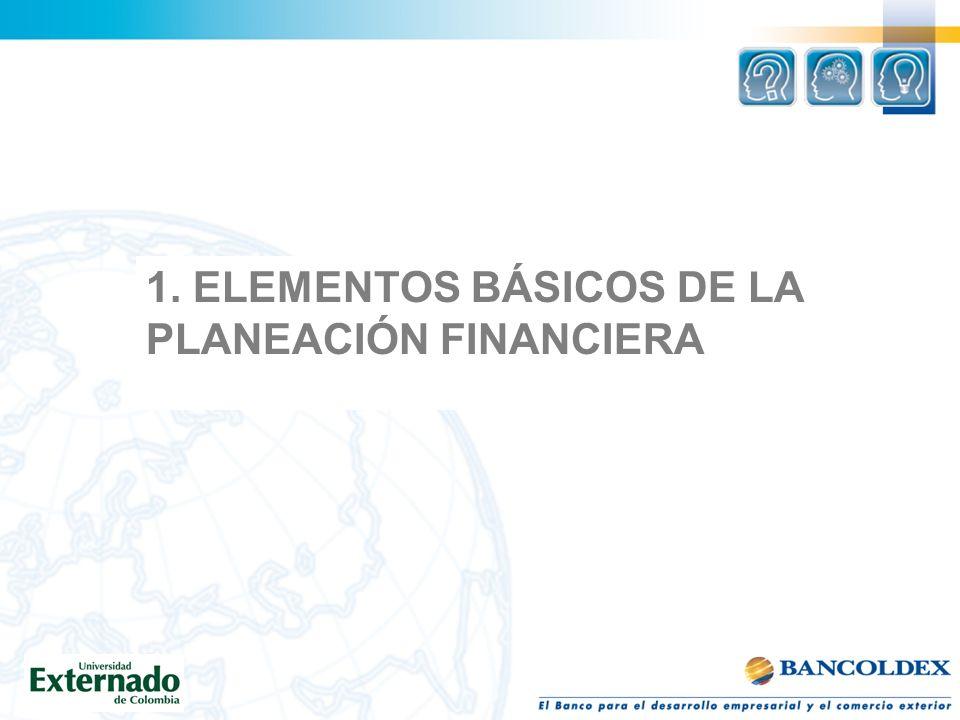 1. ELEMENTOS BÁSICOS DE LA PLANEACIÓN FINANCIERA