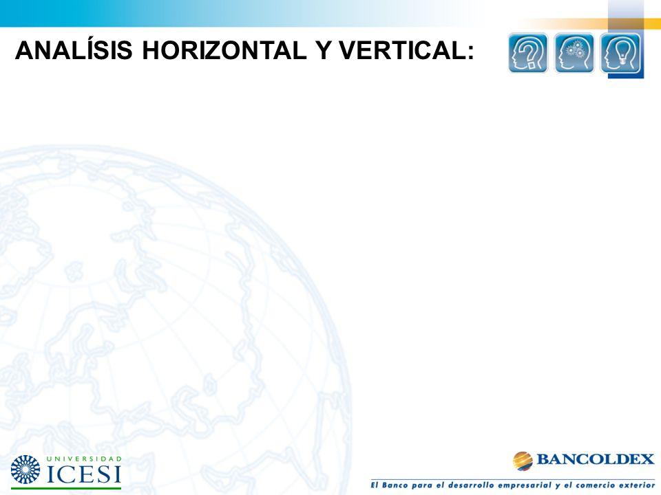ANALÍSIS HORIZONTAL Y VERTICAL: