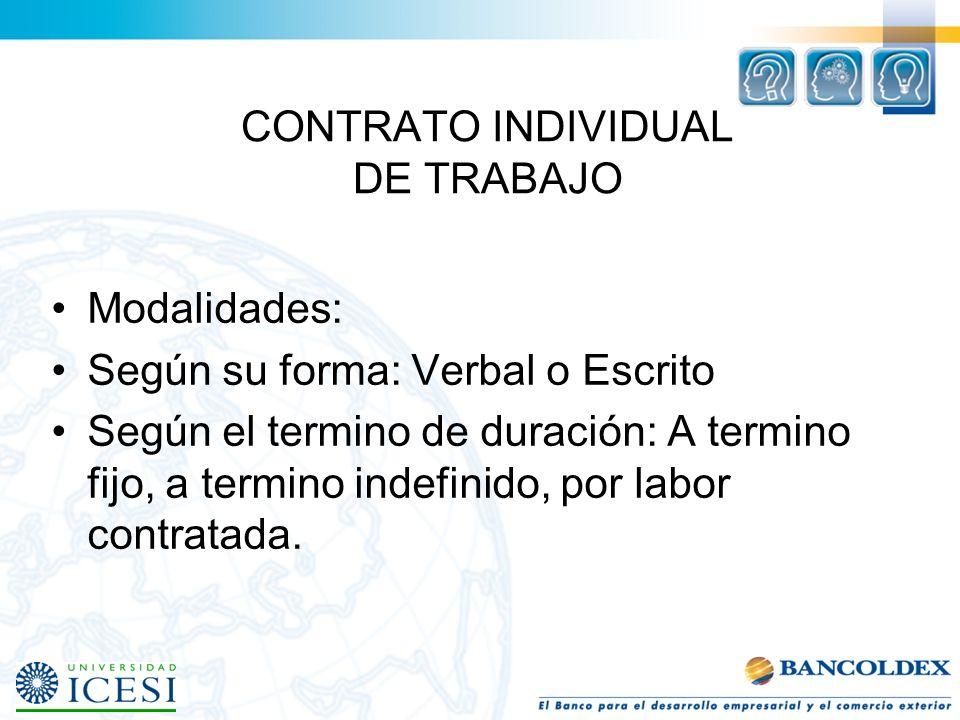 CONTRATO INDIVIDUAL DE TRABAJO CONTRATO DE TRABAJO-REALIDAD: Art. 23 C.S.T. No. 2: Una vez reunidos los tres elementos (Actividad personal, subordinac