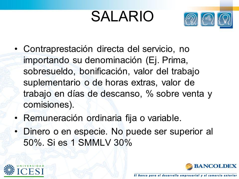 INDEMNIZACIÓN Art. 64 CST Para trabajadores que devenguen un salario superior a diez (10) salarios mínimos mensuales legales: 1. Si el servicio fuera