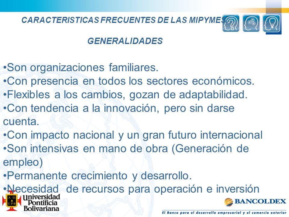 CARACTERISTICAS FRECUENTES DE LAS MIPYMES.En la gestión y administración …….
