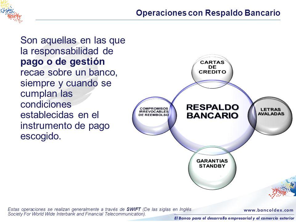 Son aquellas en las que la responsabilidad de pago o de gestión recae sobre un banco, siempre y cuando se cumplan las condiciones establecidas en el i
