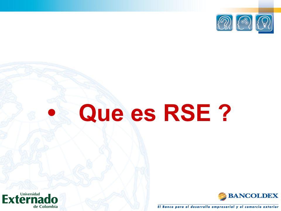 Que es RSE ?