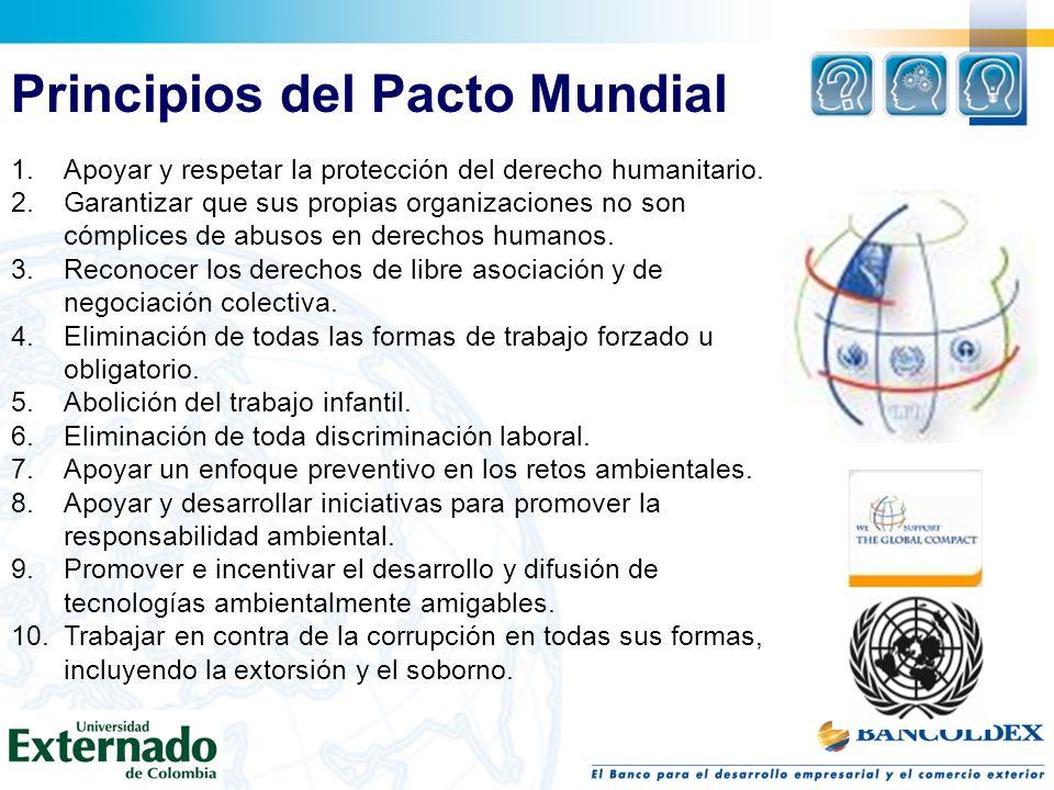 1.Apoyar y respetar la protección del derecho humanitario.