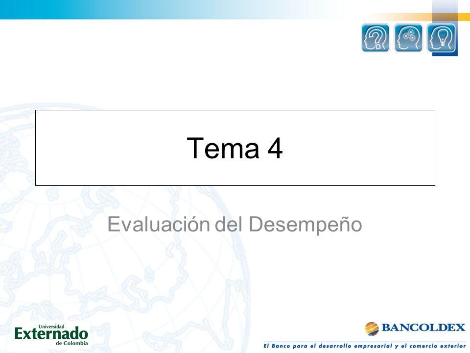 Tema 4 Evaluación del Desempeño