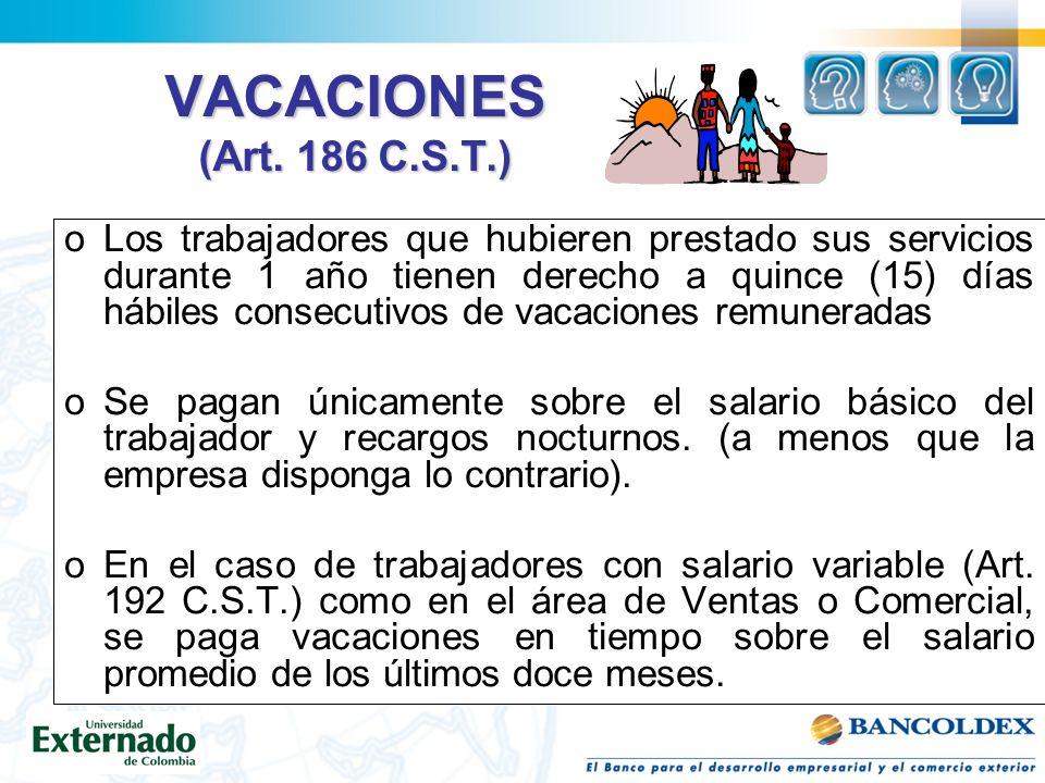 VACACIONES (Art.