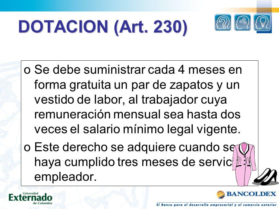 DOTACION (Art.