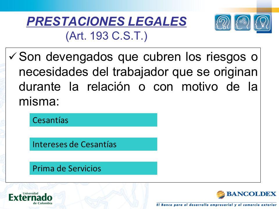 PRESTACIONES LEGALES (Art.