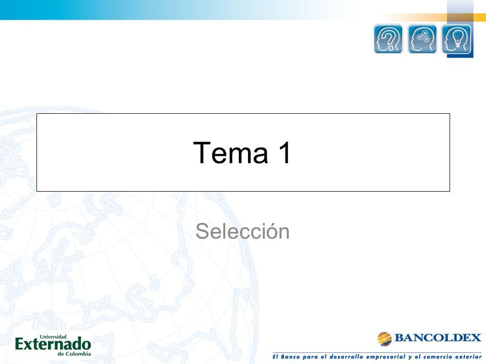 Tema 1 Selección