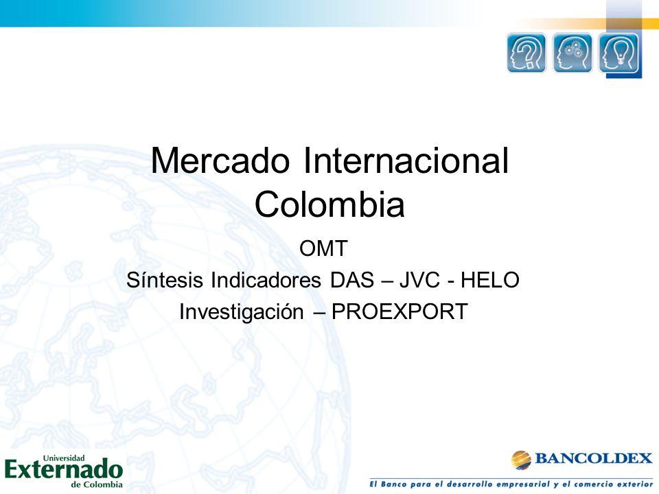 PROEXPORT - IPSOS Encuesta hecha a 4.180 visitantes internacionales por la firma Ipsos- Napoleón Franco, a los que se les preguntó por qué vienen, por qué se quedan y por qué aman a Colombia (Agosto 2008).