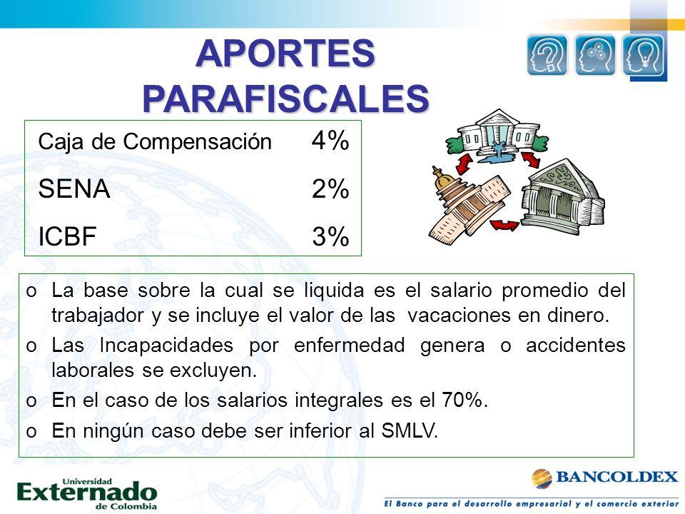 oLa base sobre la cual se liquida es el salario promedio del trabajador y se incluye el valor de las vacaciones en dinero. oLas Incapacidades por enfe
