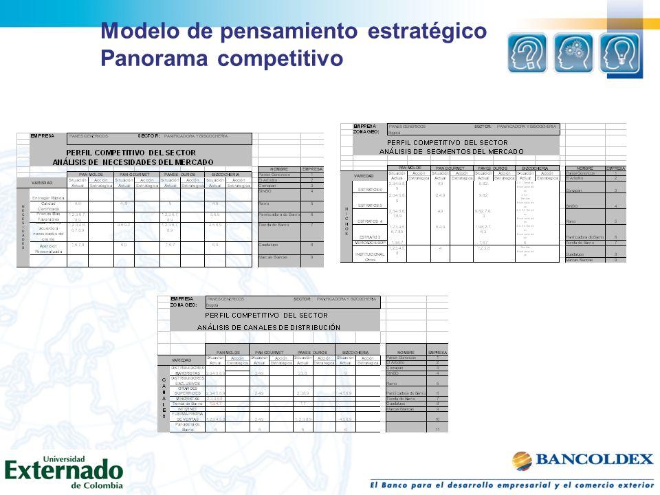 Modelo de pensamiento estratégico Panorama competitivo