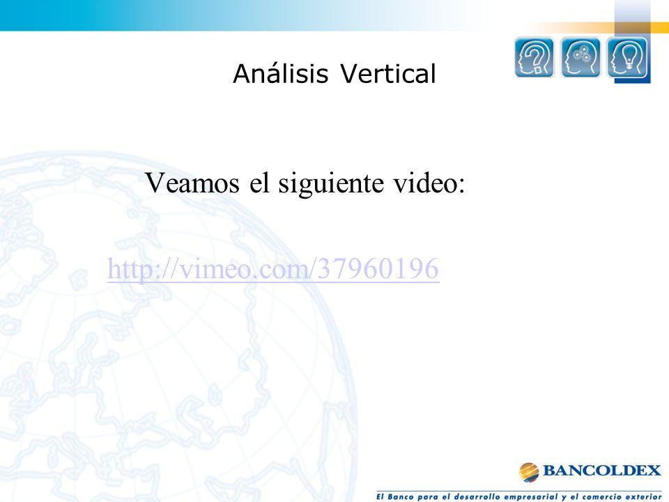Análisis Vertical Veamos el siguiente video: http://vimeo.com/37960196