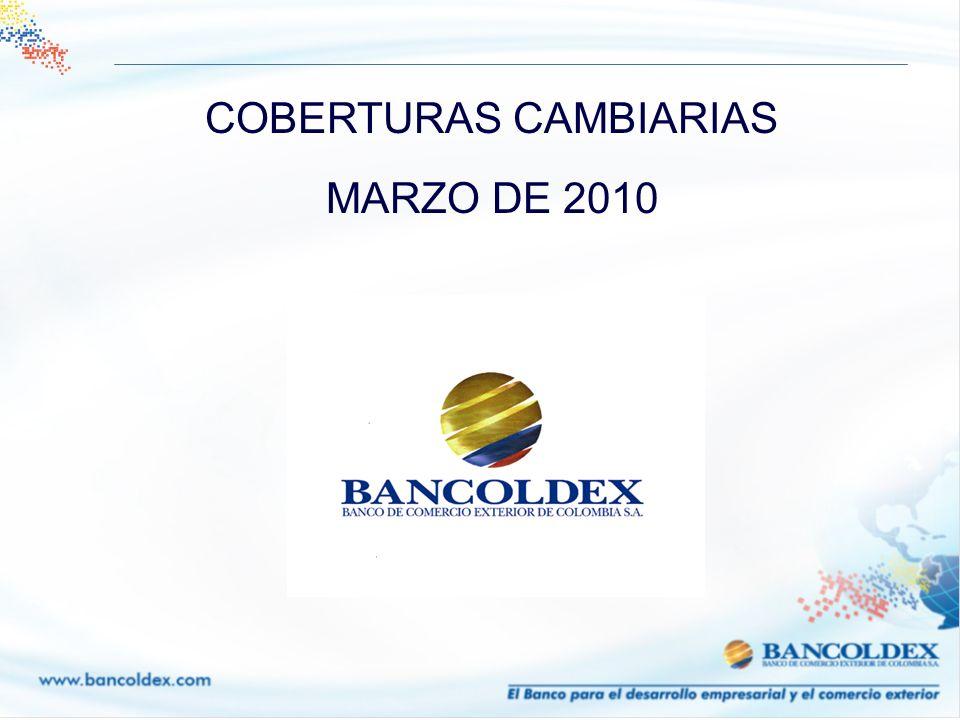 COBERTURAS CAMBIARIAS MARZO DE 2010