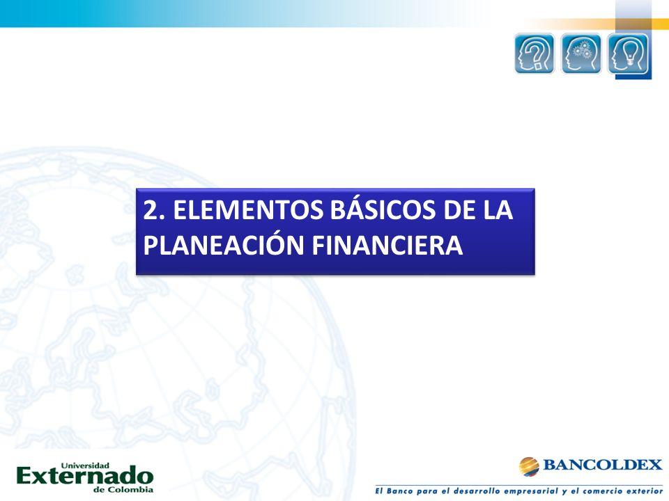 2. ELEMENTOS BÁSICOS DE LA PLANEACIÓN FINANCIERA