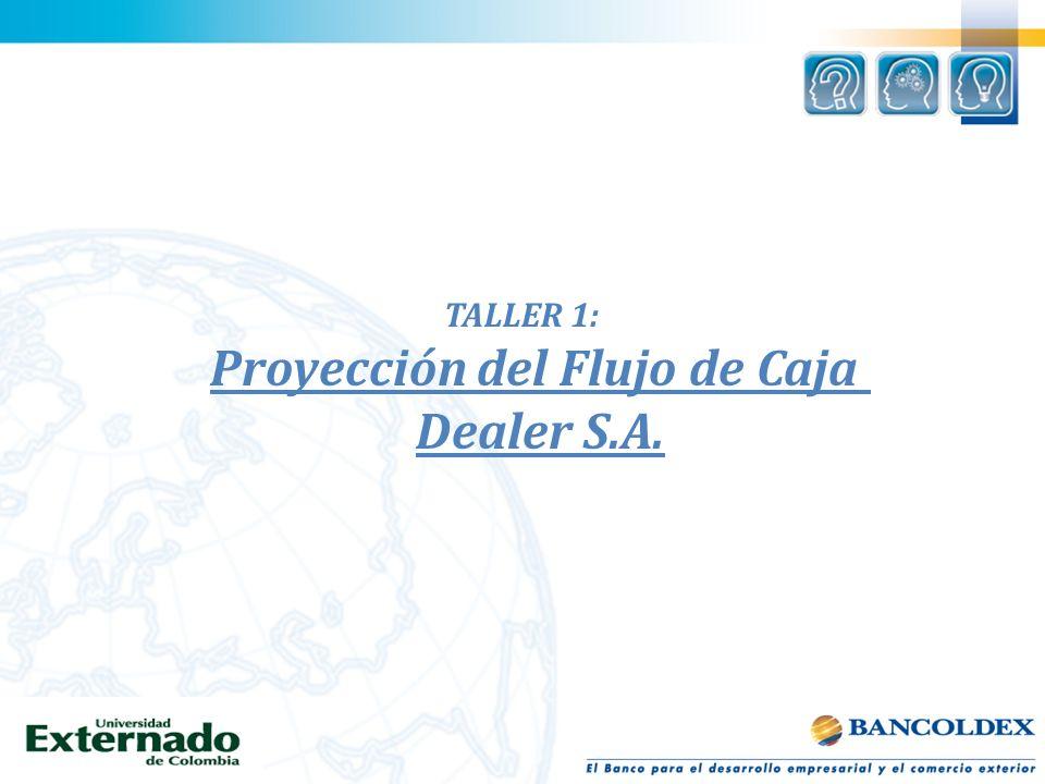 TALLER 1: Proyección del Flujo de Caja Dealer S.A.