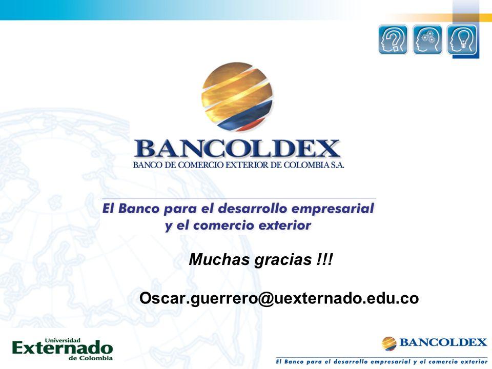Oscar.guerrero@uexternado.edu.co Muchas gracias !!!