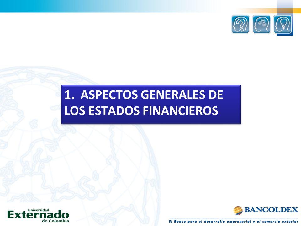 1. ASPECTOS GENERALES DE LOS ESTADOS FINANCIEROS