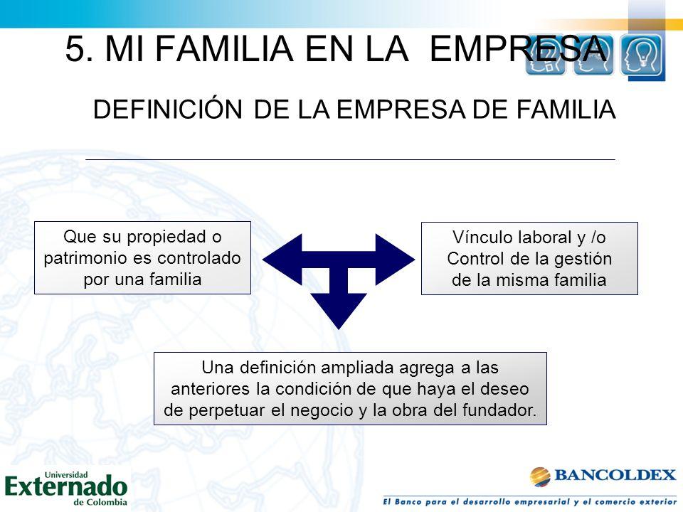 5. MI FAMILIA EN LA EMPRESA