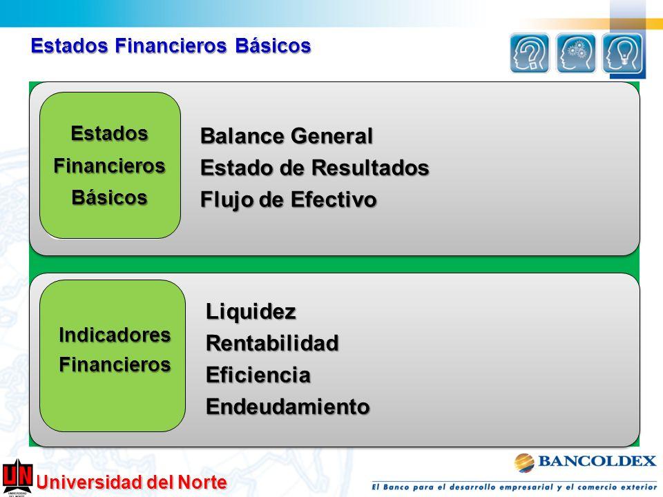 Universidad del Norte Estados Financieros Básicos Balance General Estado de Resultados Estado de Resultados Flujo de Efectivo Flujo de Efectivo Liquid