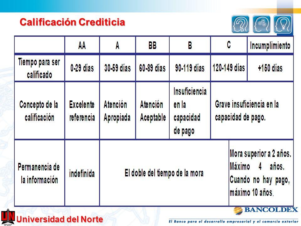 Universidad del Norte Calificación Crediticia