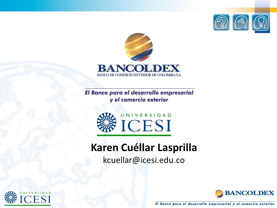 Karen Cuéllar Lasprilla kcuellar@icesi.edu.co