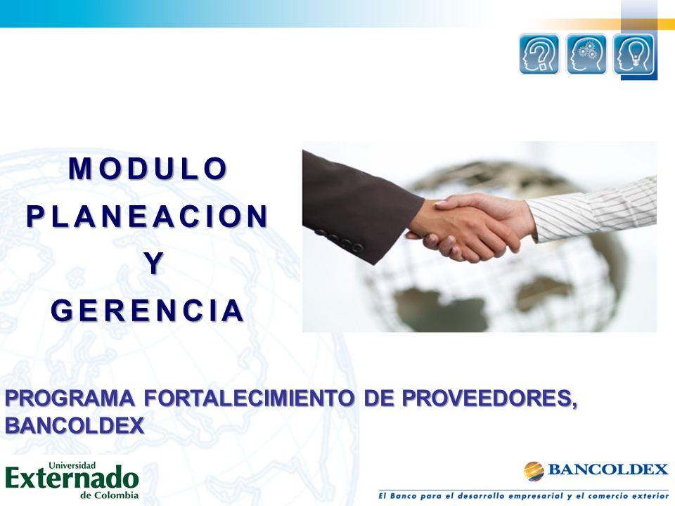 MODULOPLANEACION YGERENCIA PROGRAMA FORTALECIMIENTO DE PROVEEDORES, BANCOLDEX
