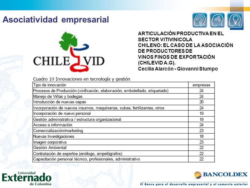 ARTICULACIÓN PRODUCTIVA EN EL SECTOR VITIVINICOLA CHILENO: EL CASO DE LA ASOCIACIÓN DE PRODUCTORES DE VINOS FINOS DE EXPORTACIÓN (CHILEVID A.G). Cecil