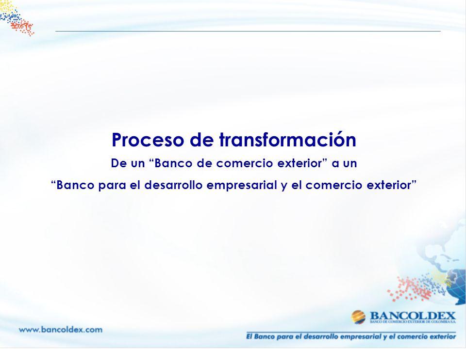 Proceso de transformación De un Banco de comercio exterior a un Banco para el desarrollo empresarial y el comercio exterior