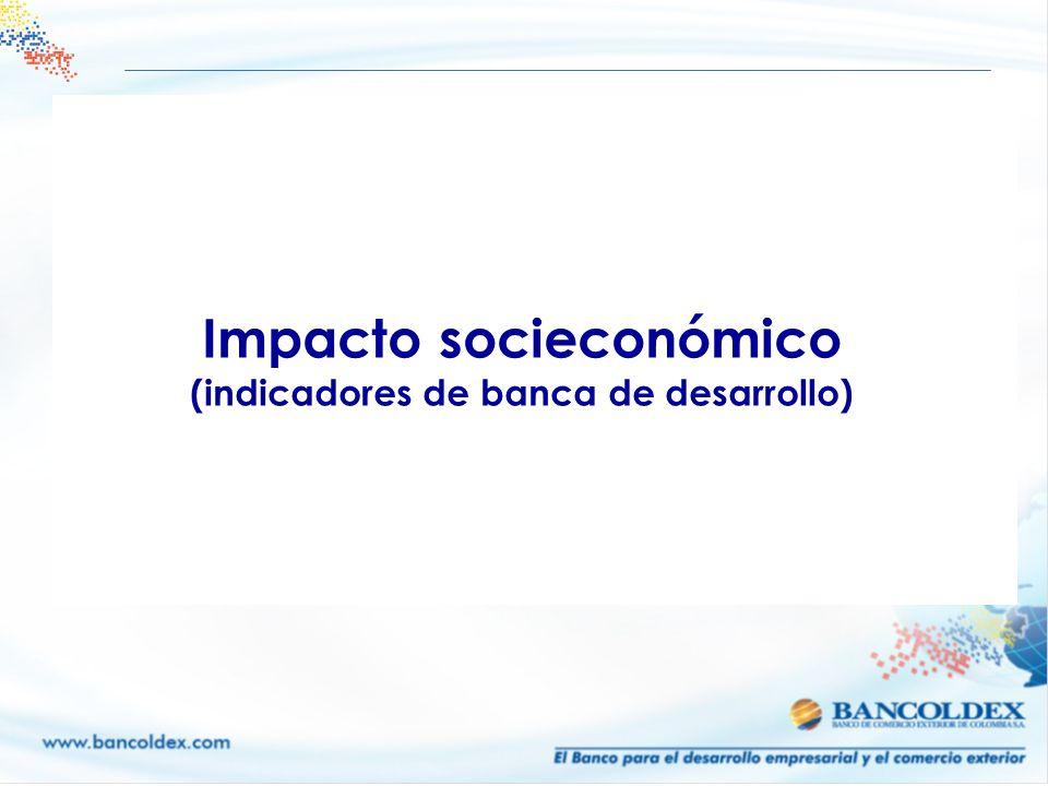Impacto socieconómico (indicadores de banca de desarrollo)