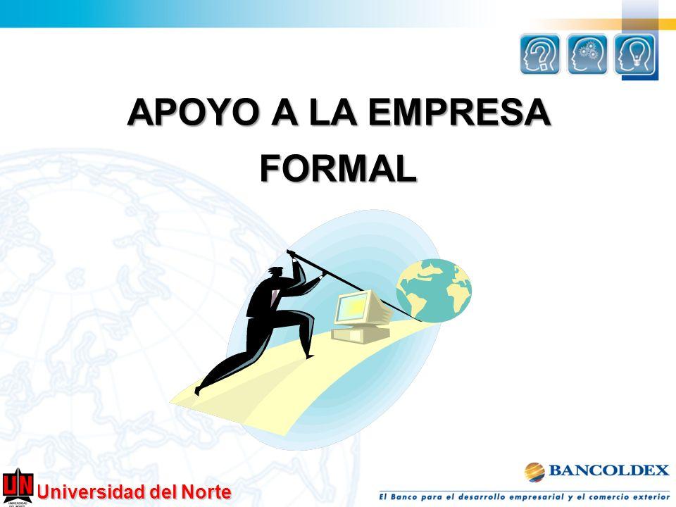 Universidad del Norte Riesgos de ser informal 1.Bajo crecimiento de su negocio.