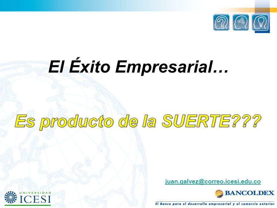 El Éxito Empresarial… juan.galvez@correo.icesi.edu.co