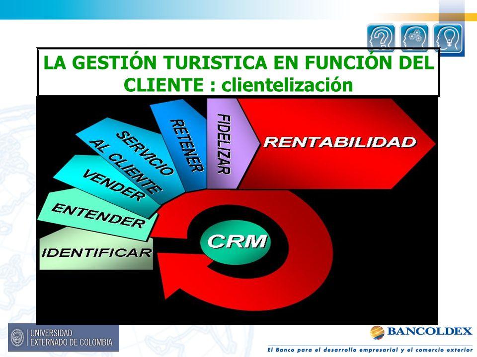 LA GESTIÓN TURISTICA EN FUNCIÓN DEL CLIENTE : clientelización