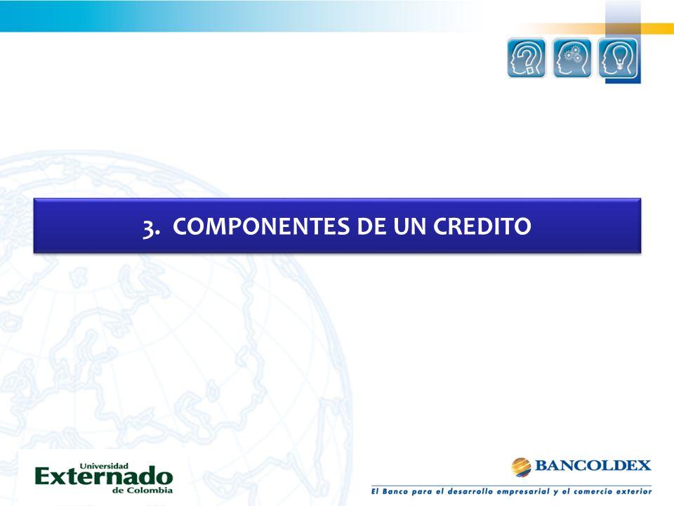 3. COMPONENTES DE UN CREDITO