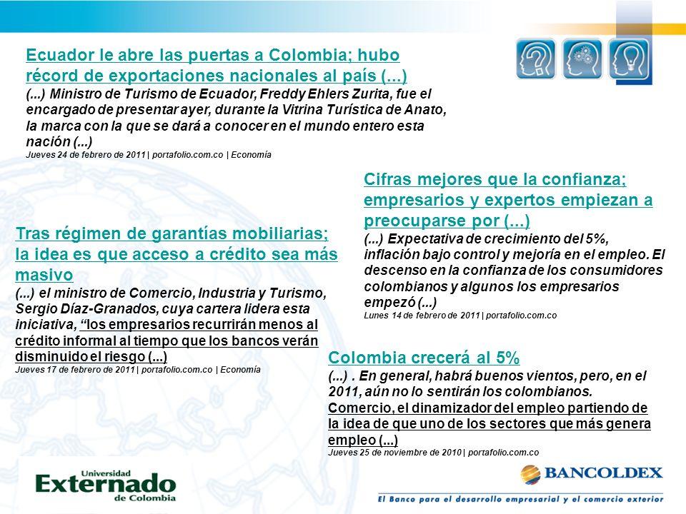Ecuador le abre las puertas a Colombia; hubo récord de exportaciones nacionales al país (...) (...) Ministro de Turismo de Ecuador, Freddy Ehlers Zuri