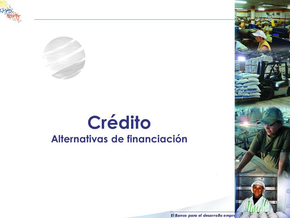 Crédito Alternativas de financiación