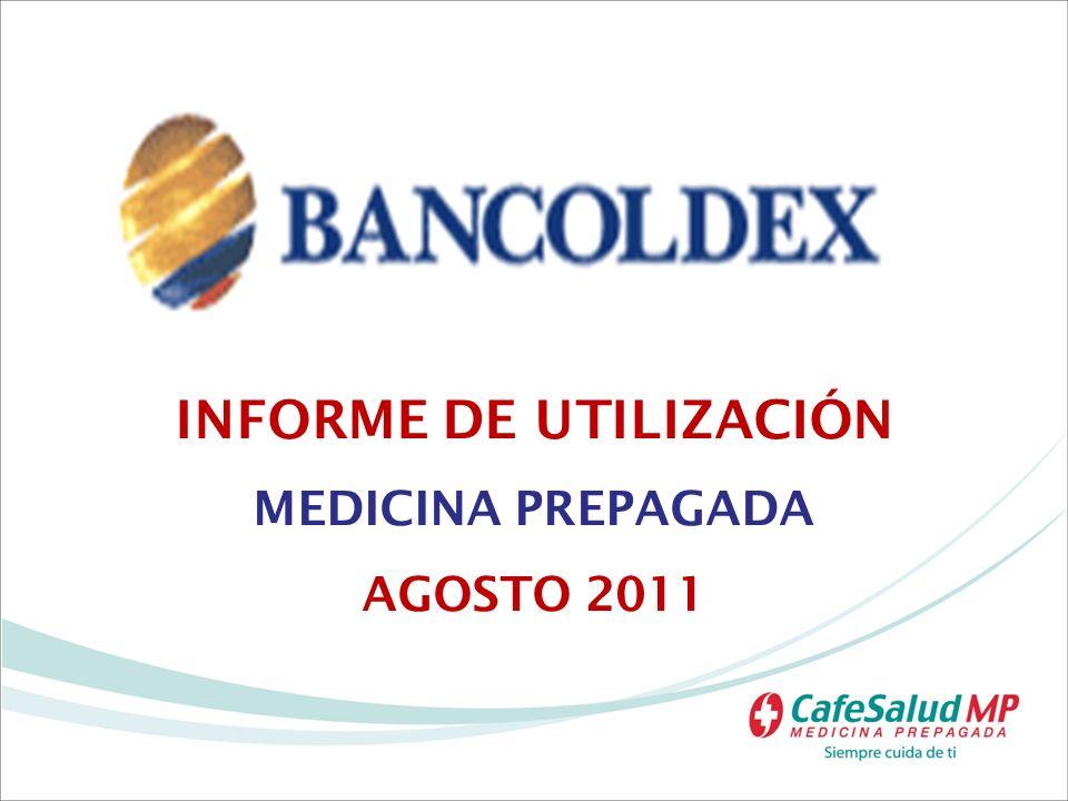 INTRODUCCIÓN Este informe refleja la evolución de la utilización y el gasto en los servicios del plan de salud que BANCOLDEX tiene en Colombia con Cafesalud MP.