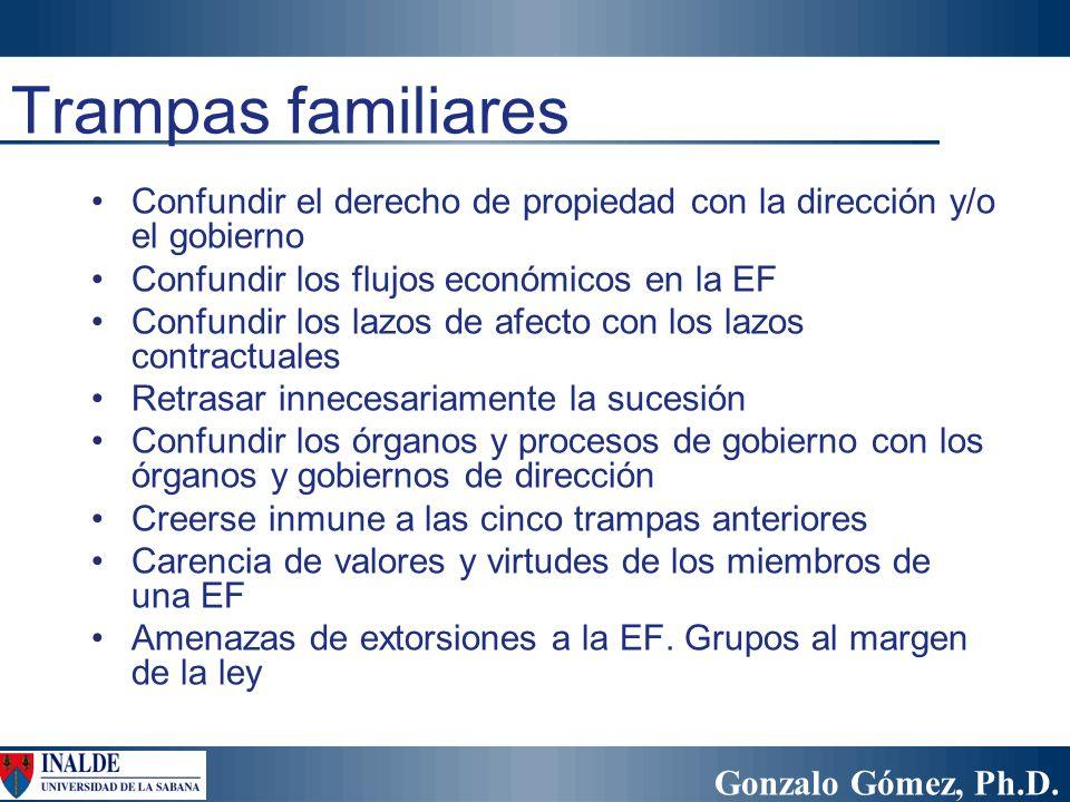 Gonzalo Gómez, Ph.D. Confundir el derecho de propiedad con la dirección y/o el gobierno Confundir los flujos económicos en la EF Confundir los lazos d