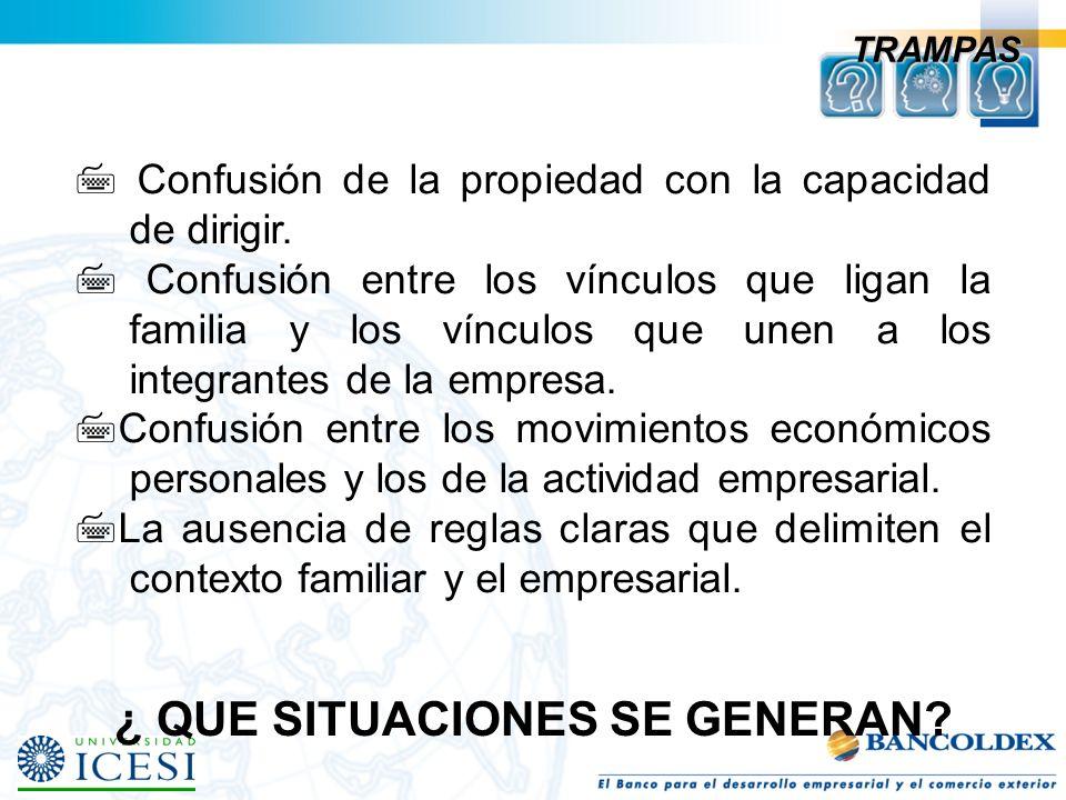DIMENSION EVOLUTIVA Madurez Expansión/ Formalización Arranque Propietario Controlador Sociedad de Hermanos Consorcio de primos Familia joven de negoci