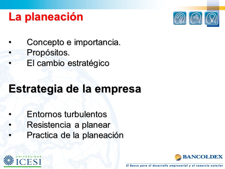 La planeación Concepto e importancia.Concepto e importancia.