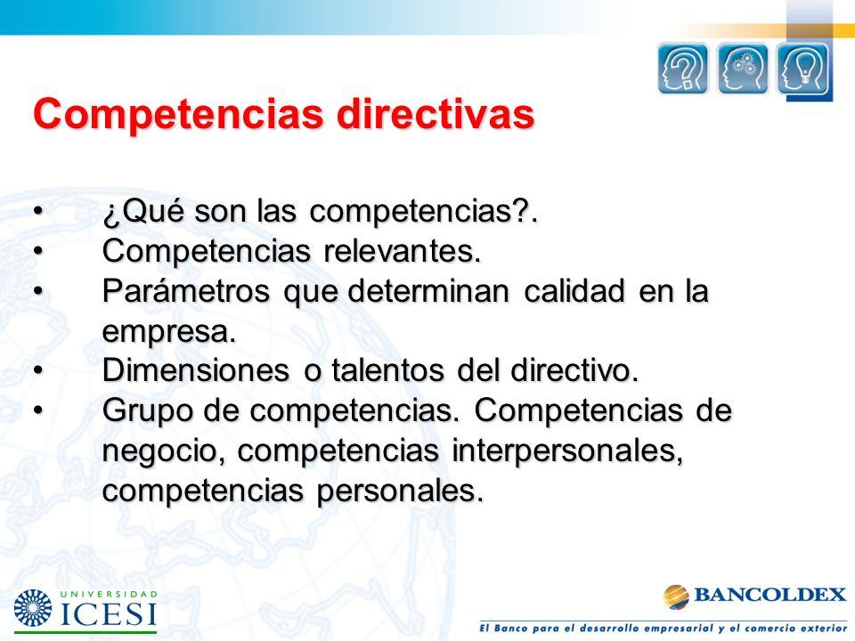 Competencias directivas ¿Qué son las competencias?.¿Qué son las competencias?.