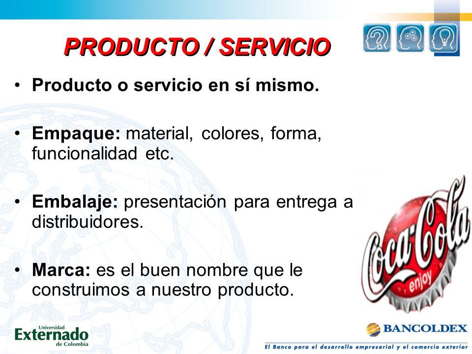 DEL MIX MKT / EMPRESA: Merchandising Servicio al cliente Grado de satisfacción de los clientes Posicionamiento Misión, Visión INFORMACION NECESARIA