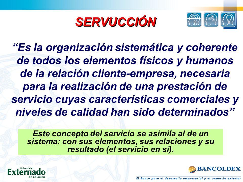 El servicio también es : Un producto afectivo, no es un producto racional; ya que servicio es atención, es amabilidad, es información. Un elemento dif
