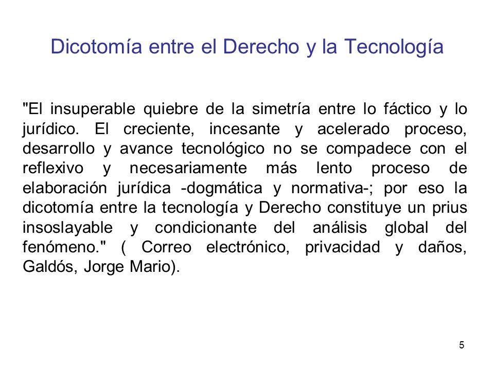5 Dicotomía entre el Derecho y la Tecnología
