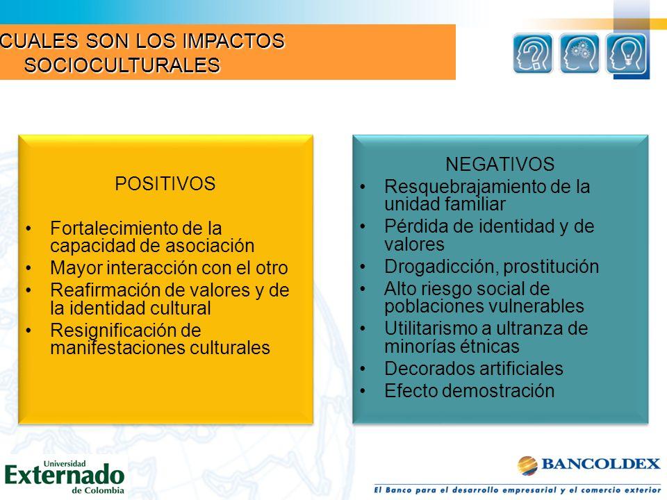 Beneficios socioculturales bien distribuidos: creación de empresas e ingresos y servicios sociales para comunidades locales y calidad de vida.
