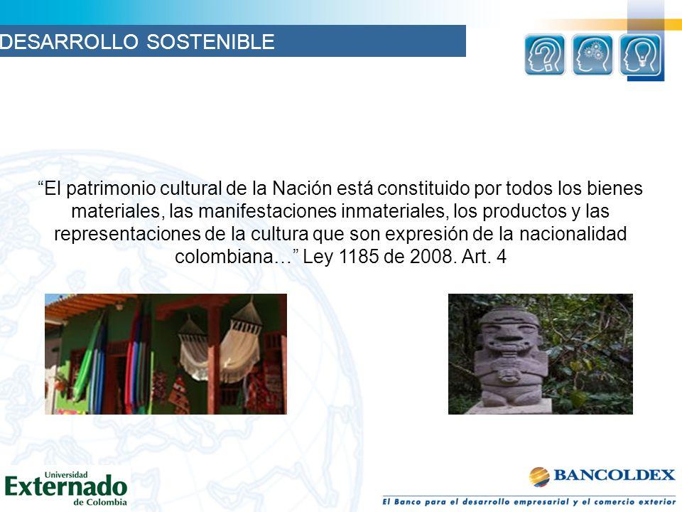 El patrimonio cultural de la Nación está constituido por todos los bienes materiales, las manifestaciones inmateriales, los productos y las representa