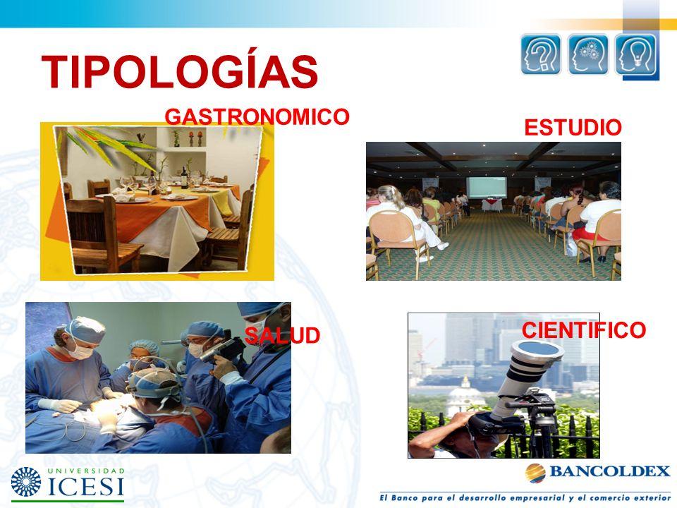 TIPOLOGÍAS GASTRONOMICO SALUD CIENTIFICO ESTUDIO