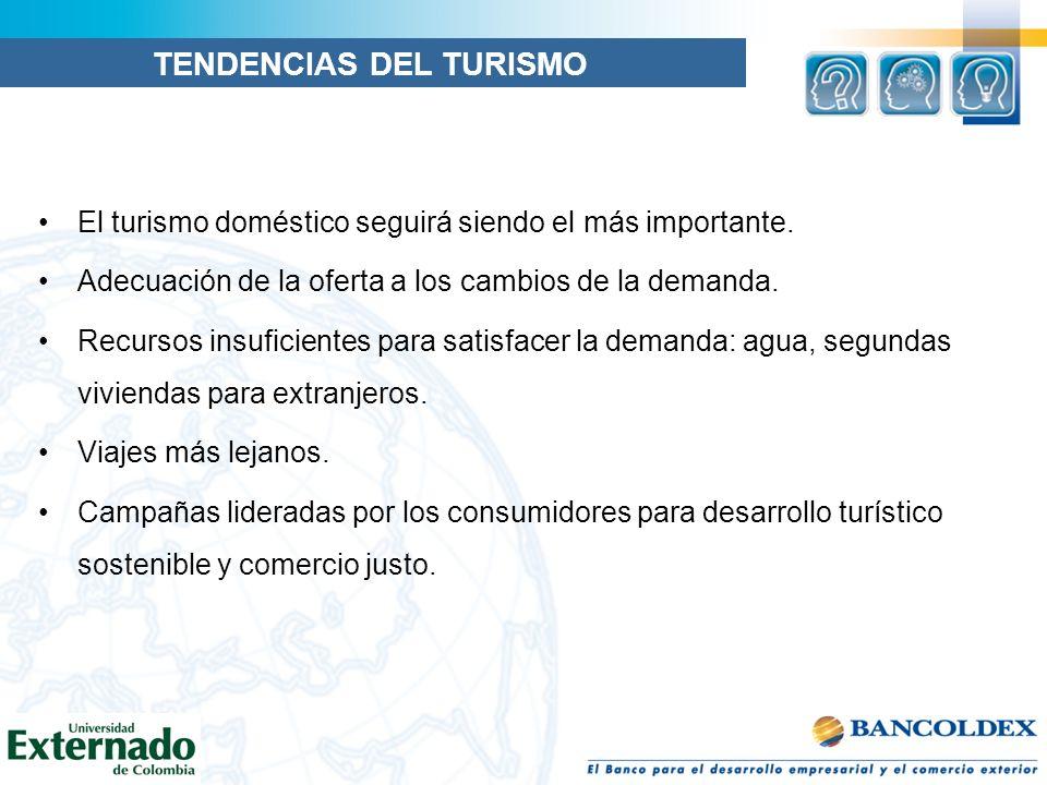 El turismo doméstico seguirá siendo el más importante. Adecuación de la oferta a los cambios de la demanda. Recursos insuficientes para satisfacer la